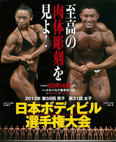 日本ボディビル選手権2013の結果