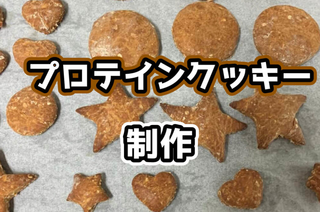 【初めてのお菓子作り】40代のおっさんがプロテインクッキーを作ってみたらアレの量に引いた。