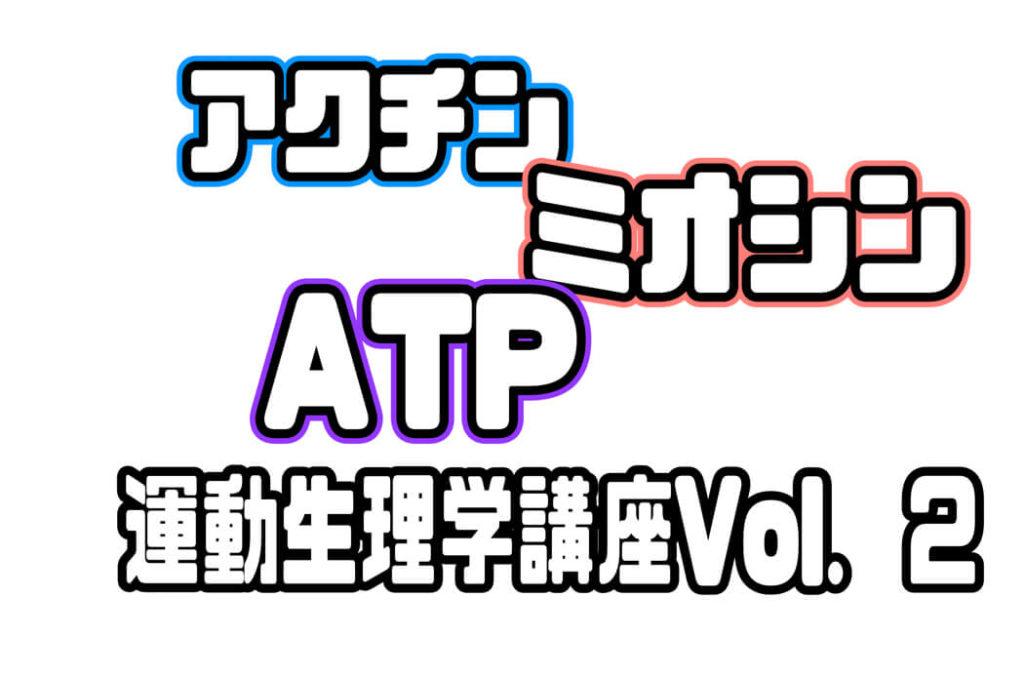 筋線維の構造アクチン・ミオシンから筋収縮のエネルギー源ATPまで。運動生理学講座Vol.2